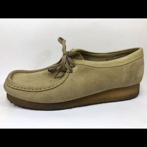 Clarks Wallabees Suede Leather Oxfords 11.5M